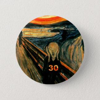 Badge Rond 5 Cm 30ème Cadeaux d'anniversaire