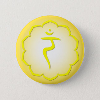 Badge Rond 5 Cm 3èmes Chakra - Manipura