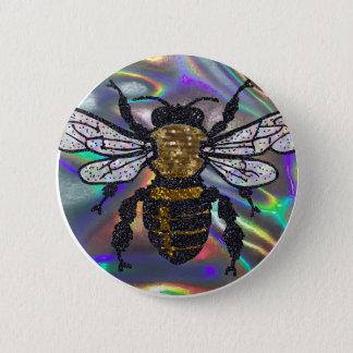 Badge Rond 5 Cm abeille ornée de bijoux