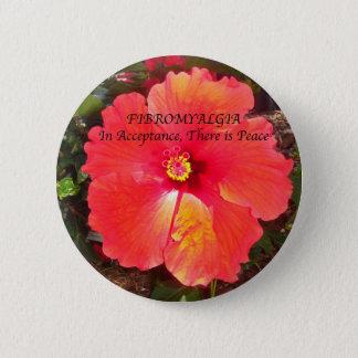 Badge Rond 5 Cm Acceptation fibro