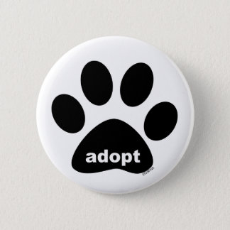 Badge Rond 5 Cm Adoptez