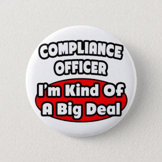 Badge Rond 5 Cm Affaire de dirigeant de conformité…