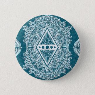 Badge Rond 5 Cm Âge de vert bleu du réveil, bohémien, newage