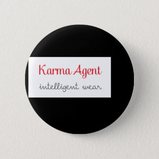 Badge Rond 5 Cm agent de karma - usage intelligent, énergie