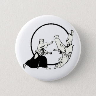 Badge Rond 5 Cm Aikido