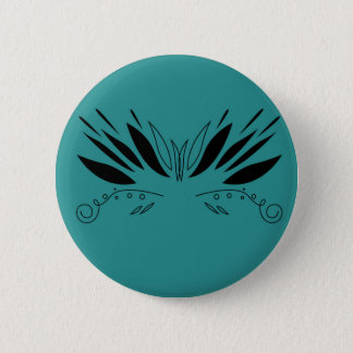 Badge Rond 5 Cm Ailes de conception sur le bleu