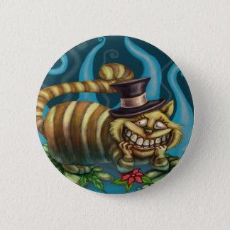 Badge Rond 5 Cm Alice chez le chat de Cheshire du pays des