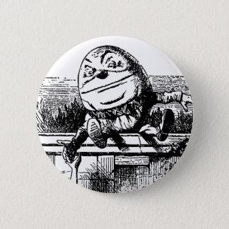Badge Rond 5 Cm Alice vintage au pays des merveilles, Humpty