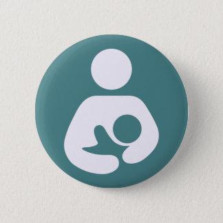 Badge Rond 5 Cm Allaitant l'icône - mauve