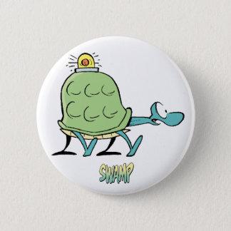 Badge Rond 5 Cm Ambulance de tortue de bandes dessinées de marais