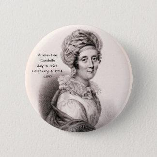 Badge Rond 5 Cm Amélie Julie Candeille c1810