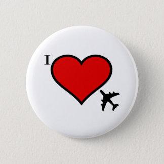 Badge Rond 5 Cm Amour d'avion