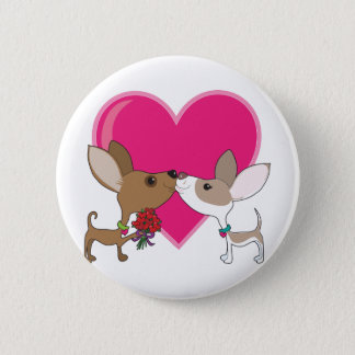 Badge Rond 5 Cm Amour de chiwawa