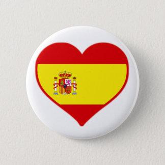 Badge Rond 5 Cm Amour de l'Espagne