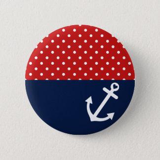 Badge Rond 5 Cm Amour nautique classique de point de polka