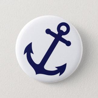 Badge Rond 5 Cm Ancre de bleu marine