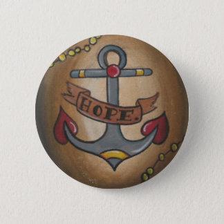 Badge Rond 5 Cm Ancre de tatouage