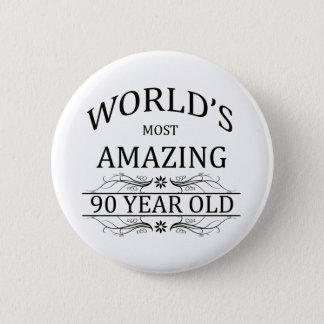 Badge Rond 5 Cm Ans les plus impressionnants du monde 90