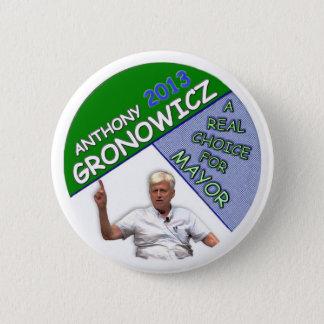 Badge Rond 5 Cm Anthony Gronowicz pour le maire 2013 de NYC