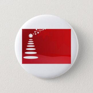 Badge Rond 5 Cm Arbre de Noël