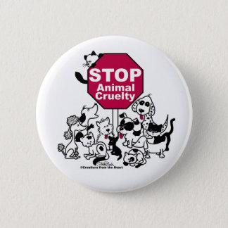 Badge Rond 5 Cm Arrêtez la cruauté animale