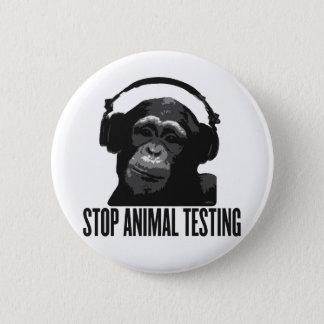 Badge Rond 5 Cm arrêtez l'expérimentation animale