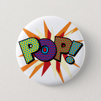 Badge Rond 5 Cm Art de bruit de bande dessinée POP !