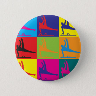 Badge Rond 5 Cm Art de bruit de gymnastique