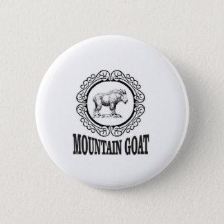 Badge Rond 5 Cm art de chèvre de montagne