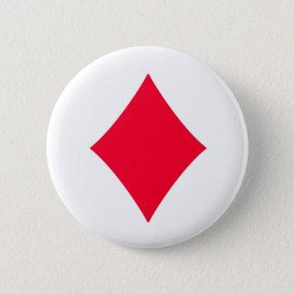 Badge Rond 5 Cm As de bouton de diamants