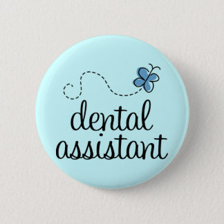 Badge Rond 5 Cm Assistant dentaire mignon