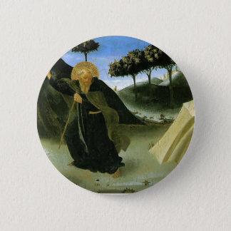 Badge Rond 5 Cm ATF Angelico- St Anthony tenté par un morceau d'or