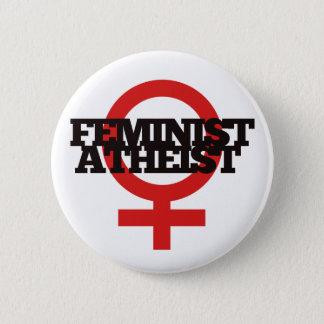 Badge Rond 5 Cm Athée féministe