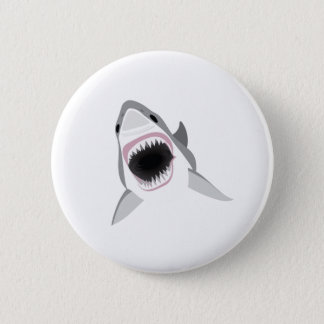 Badge Rond 5 Cm Attaque de requin - morsure du grand requin blanc