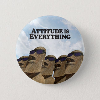 Badge Rond 5 Cm Attitude tout Moi de hanche de groupe - bouton