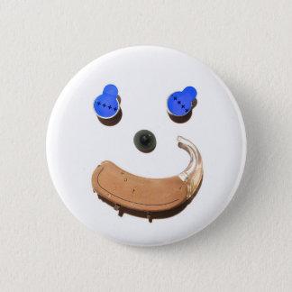 Badge Rond 5 Cm Audition = plus heureux + Plus sain