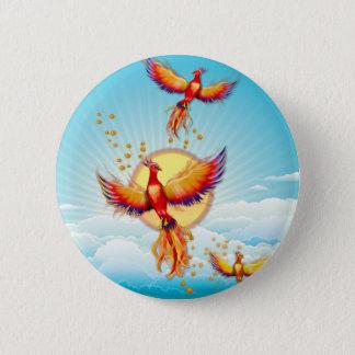 Badge Rond 5 Cm Augmentation d'oiseau du feu de Phoenix