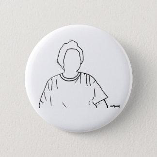 Badge Rond 5 Cm autocollant blanc de bouton d'ensemble d'irlfork