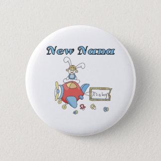 Badge Rond 5 Cm Avion c'est un garçon nouvelle Nana