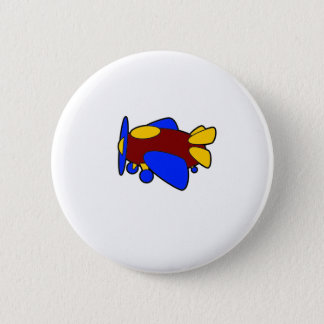 Badge Rond 5 Cm Avion coloré mignon de bande dessinée d'avion