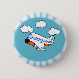 Badge Rond 5 Cm Avion de bande dessinée