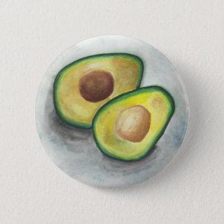 Badge Rond 5 Cm Avocat dans l'aquarelle