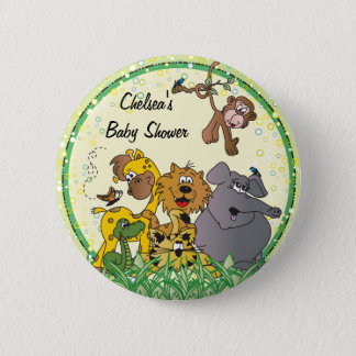 Badge Rond 5 Cm Baby shower des animaux | de bébé de jungle de