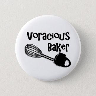 Badge Rond 5 Cm Baker vorace - bouton drôle de Pin