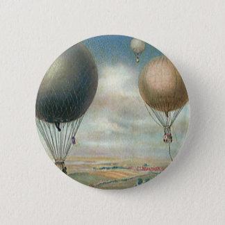 Badge Rond 5 Cm Ballons à air chauds de transport vintage,
