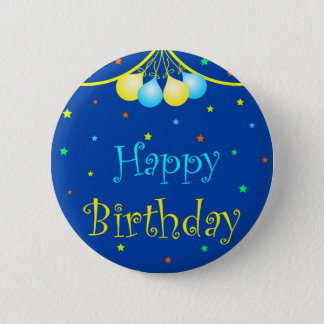 Badge Rond 5 Cm Ballons d'anniversaire