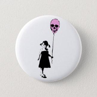 Badge Rond 5 Cm Balloon Girl