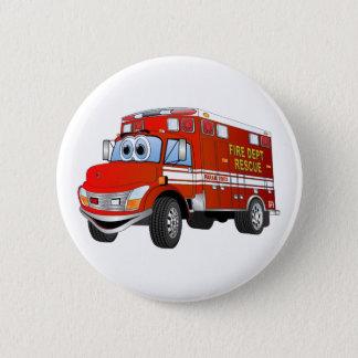 Badge Rond 5 Cm Bande dessinée de délivrance du feu