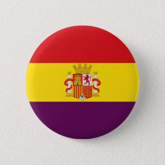 Badge Rond 5 Cm Bandera de la República Española
