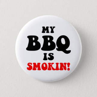 Badge Rond 5 Cm Barbecue drôle